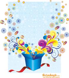 Free Groovy Gift Box Vector Illustration