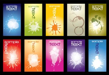 10 Free Vector Inkblot cartão modelos