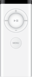 Apple Remote White Version Old Vector