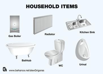 Metallic Household Items
