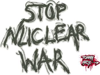 Detener la guerra nuclear - Diseño Tommy Brix