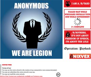 Nixvex Anónimo Vectores Gratis