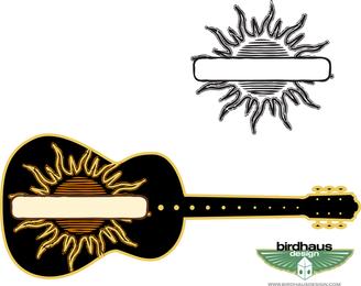 Sun gráfico e guitarra