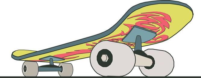 Skate Close Up com Design