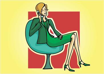 Secretaria vector illustration