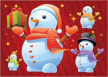 Vectores de muñeco de nieve de navidad