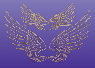 Desenho vetorial de asas