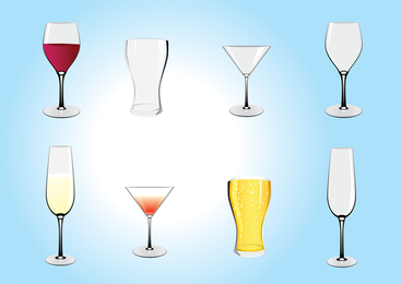 Ilustrações de bebidas