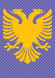 Bandera de Albania doble cabeza águila