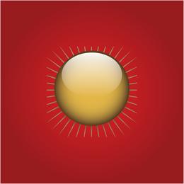 Botón sol dorado