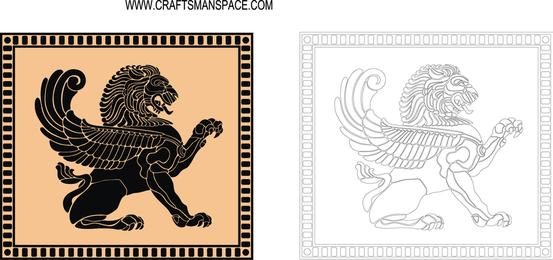 Escudo de león antiguo