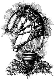 Ajedrez Ornamental Caballo De Diseño