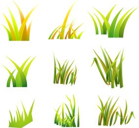 Set of vector grass