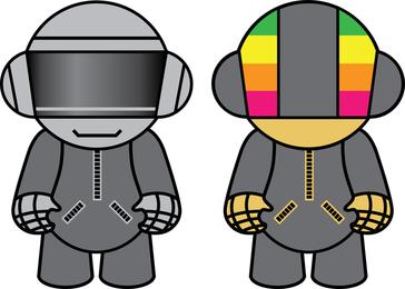 Bonecos Daft Punk