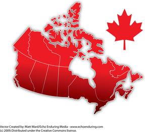 Canada Day Mapa Vector