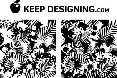 Dschungel Splatter Wallpaper Grunge Vector frei