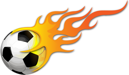 Ball On Fire Vector Image