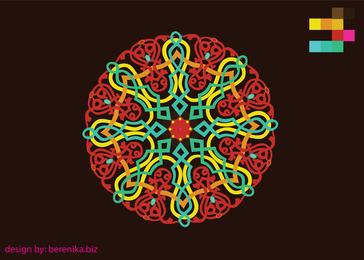 Ornamento colorido del folklore