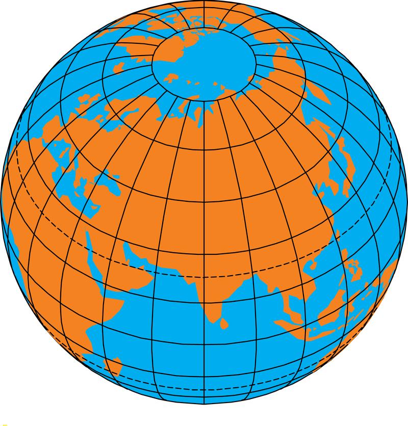 Картинка земля с меридианами