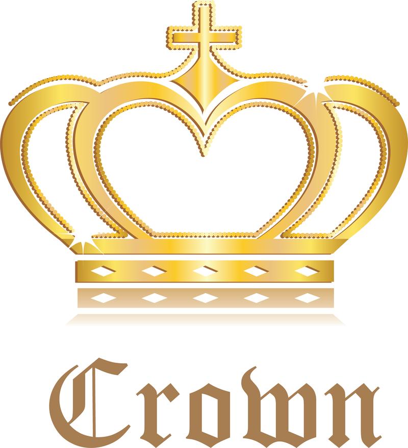 3d Rey y la Reina de la corona del vector Corona Ai vectorial