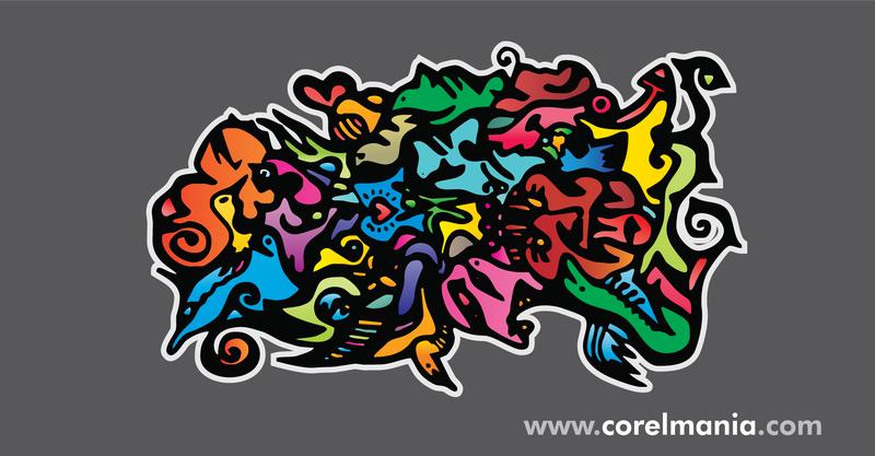 Street art abstract illustration