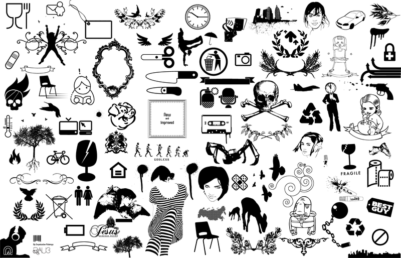 Lots of misc objects icon collection