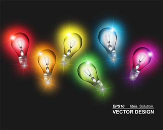 Vector de lampara