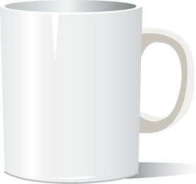 Vector libre fotorrealista taza blanca
