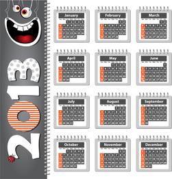 Kalender 2013 mit Gesicht