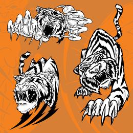Vetor de tigre imagem 11