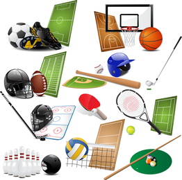 Sports Equipment 05 Vector