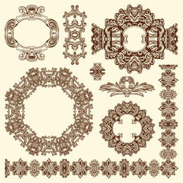 European Retro Lace 06 Vector