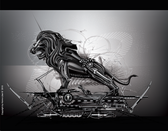 Cool The Metal Lions Vector