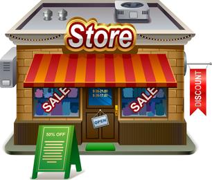 Small Shops Model 02 Vector