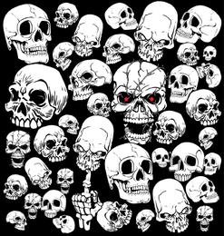 Terrorist Skeleton Head 02 Vector