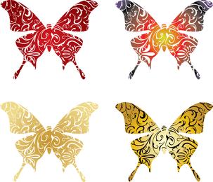 Conjunto de vectores de mariposa