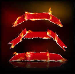 Conjunto de la cinta roja ardiente