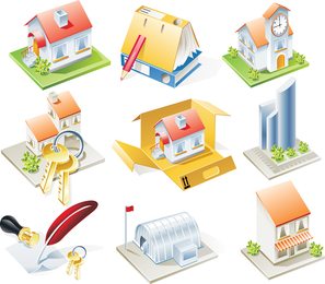 Housing Model Vector
