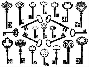 European Retro Keys Vector