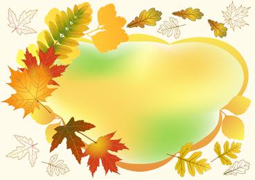 Vector hermoso del marco de la foto del otoño