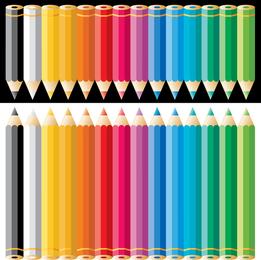 Ilustración de lápiz de color arco iris