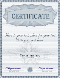 Gorgeous Diploma Certificate Template 01 Vector
