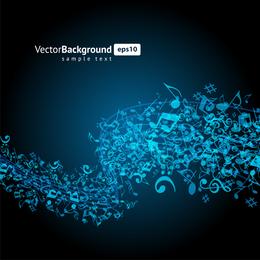 Color Music Key Symbols 01 Vector