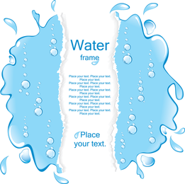 A Pool Of Water Border Vector