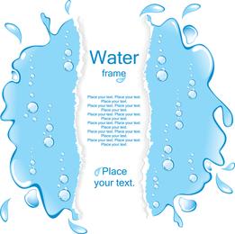 Una piscina de agua frontera vector