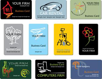 Proyecto de refinado de diseño de tarjetas de negocios líneas de negocio 01 Vector