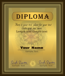 Herrlicher Diplom-Zertifikatvorlage 04 Vektor