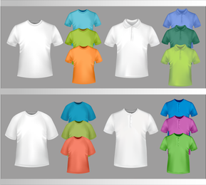 Fine Tshirt Template 04 Vector