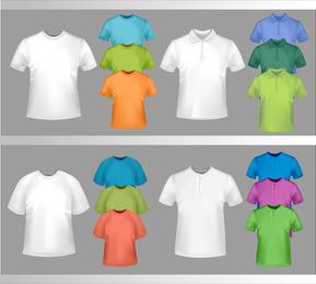 Plantilla de camiseta fina 04 Vector