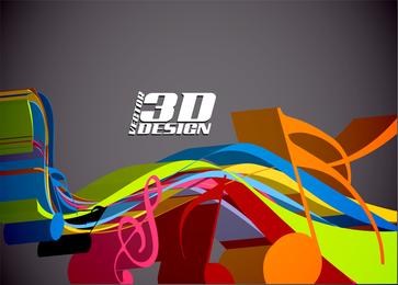 Dynamic Threedimensional Elements 03 Vector